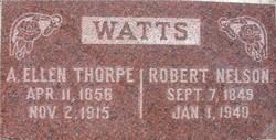 Agnes Ellen <I>Thorpe</I> Watts