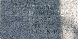 Alma Mathilde <I>Johansen</I> Anderson