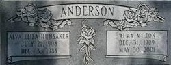 Alva Eliza <I>Hunsaker</I> Anderson