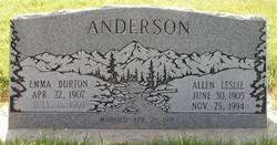 Emma B. <I>Burton</I> Anderson