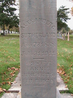 """Frances Eliza """"Fannie"""" <I>Slater</I> Sutherland"""