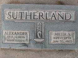 "Millicen May ""Millie"" <I>Steele</I> Sutherland"