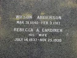 Rebecca A <I>Gardiner</I> Anderson
