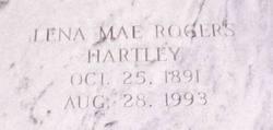 Lena Mae <I>Rogers</I> Hartley