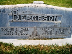 "Fredrick William ""Bill"" Bergeson"