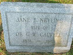 Jane E <I>Nevling</I> Calwell