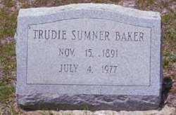 Trudie <I>Sumner</I> Baker