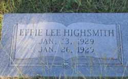 Effie Lee Highsmith