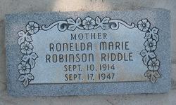 Ronelda Marie <I>Robinson</I> Riddle