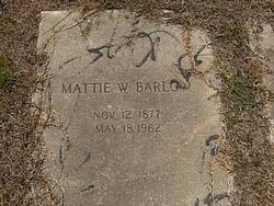 Mattie Elizabeth <I>Wyatt</I> Barlow