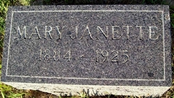 Mary Janette <I>Thayer</I> Jones