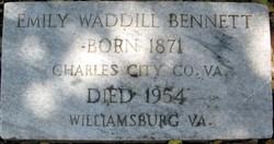 Emily <I>Waddill</I> Bennett