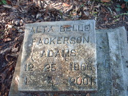 Alta Belle <I>Packerson</I> Adams