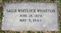 Sallie <I>Whitlock</I> Wharton