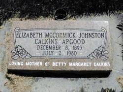 Elizabeth McCormic <I>Johnson</I> Calkins Apgood