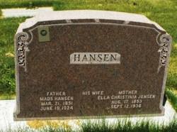 Ella Christina <I>Jensen</I> Hansen
