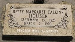 Betty Margaret <I>Calkins</I> Houser