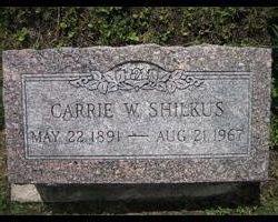 "Caroline W ""Carrie"" <I>Pantle</I> Shilkus"