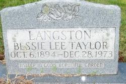 Bessie Lee <I>Taylor</I> Langston