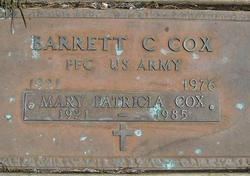 """Mary Patricia """"Pat"""" <I>Flanagan</I> Cox"""