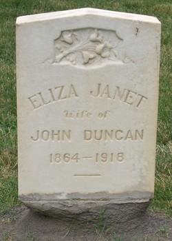 Eliza Jennett <I>Duncan</I> Duncan