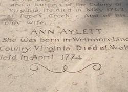 Ann <I>Aylett</I> Washington