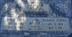 Hannah <I>Cornia</I> Cox