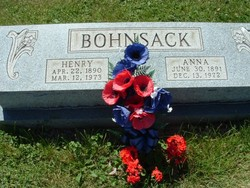 Anna <I>Hinze</I> Bohnsack