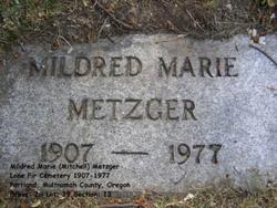 Mildred Marie <I>Mitchell</I> Metzger