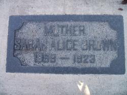 Sarah Alice <I>Parker</I> Brown