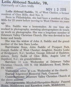 Leila <I>Abboud</I> Saddic
