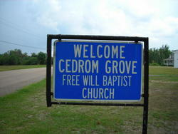 Cedrum Grove Free Will Baptist Church Cemetery