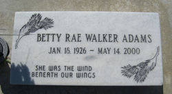 Betty Rae <I>Walker</I> Adams