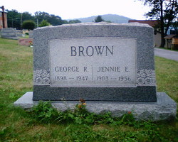 Jennie Elizabeth <I>Johncour</I> Brown