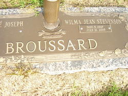 Wilma Jean <I>Stevenson</I> Broussard