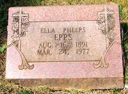 """Ella Olive """"Ollie"""" <I>Phelps</I> Epps"""