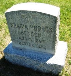 Frances Gracia <I>Hoopes</I> Benson
