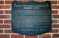 Martins Cross Roads Congregational Holiness Church