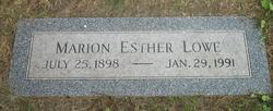 Marion Esther Lowe
