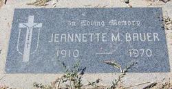 Jeannette M Bauer