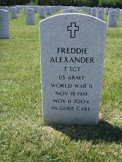 Sgt Freddie Alexander