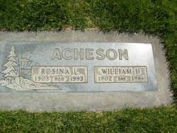 Rosina Bertha <I>Houdmann</I> Acheson