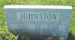 Marjorie E <I>Clarke</I> Johnston