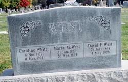 "Caroline ""Carrie"" <I>White</I> West"