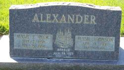 "Alvah J ""Peck"" Alexander"