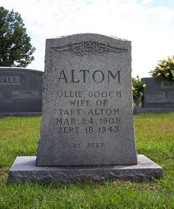 Ollie Lee <I>Gooch</I> Altom