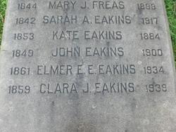 Clara J Eakins