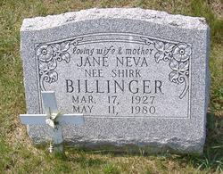 Jane Neva <I>Shirk</I> Billinger