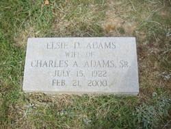 Elsie Cathinka <I>Decederfelt</I> Adams