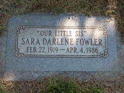 Sara Darlene Fowler